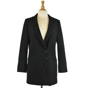 H&M Long Black Blazer Jacket